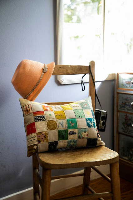 Road Trip Pillow from Patchwork USA by Heidi Staples of Fabric Mutt (Photo by Page + Pixel for Lucky Spool Media)