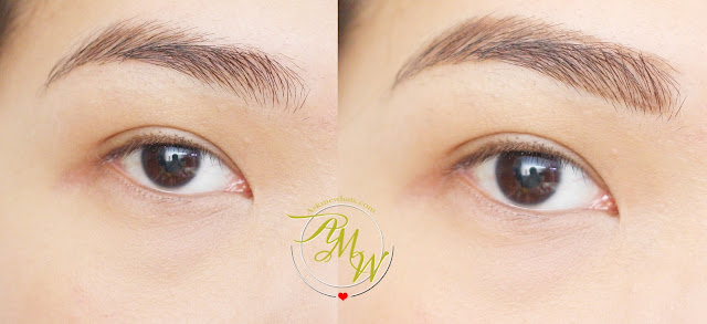 a before and after photo of Mary Kay Brow Definer Pencil in Brunette