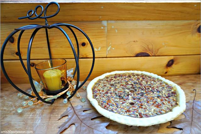 Chocolate Bourbon Pecan Pie sin Cocer ni Decorar