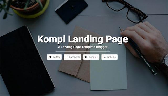 Kompi Landing Page бесплатный шаблон для blogger blogspot