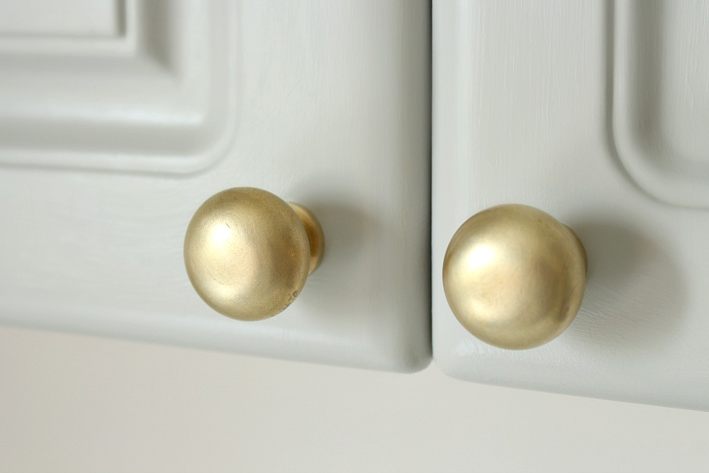 DIY Brushed Brass Cabinet Knobs