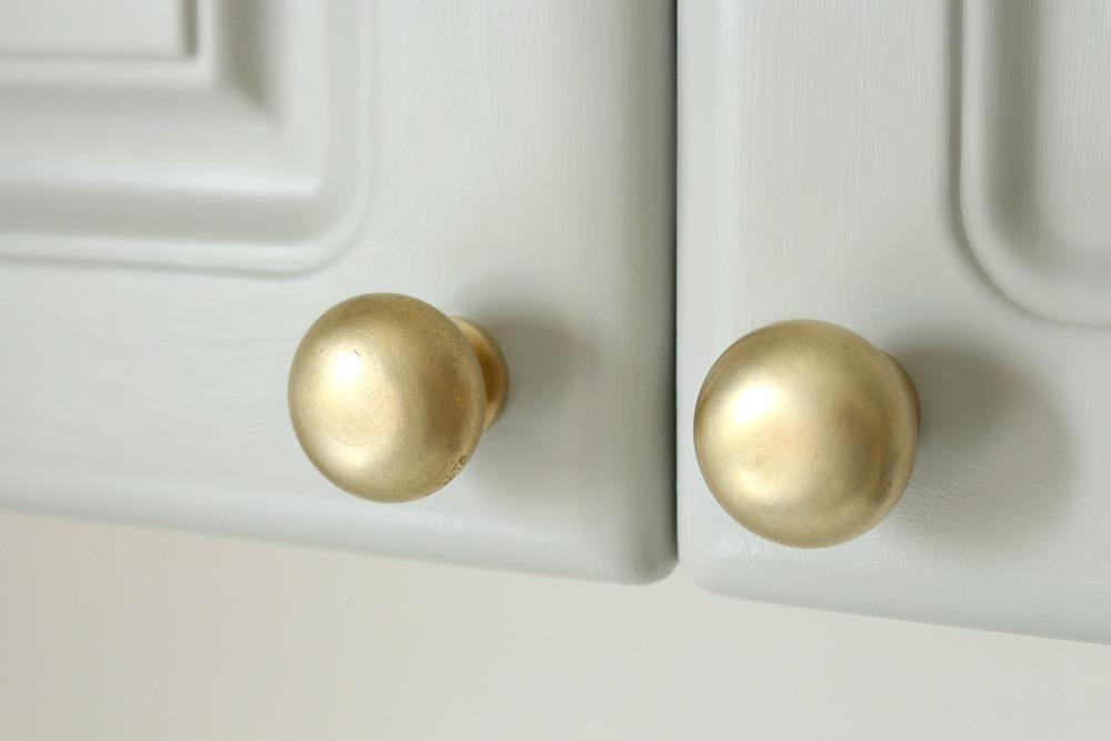 DIY Brushed Brass Cabinet Knobs