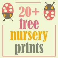 free nursery printables