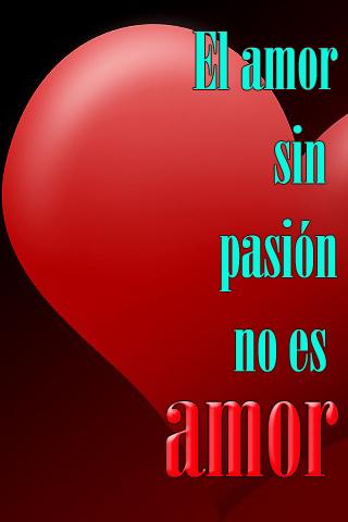 El amor sin pasión no es amor