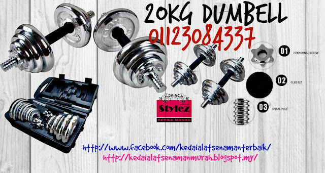 york dumbell , chrome dumbell