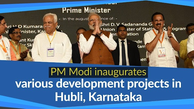 PM Narendra Modi visits Hubli in Karnataka