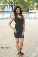 Actress Model Sravani Cute Stills in Silver Tight Short Dress at Pochampally IKAT Art Mela 2017 Launch  0006.jpg