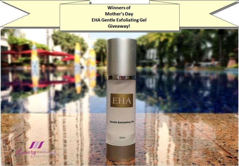 mothers day eha gentle exfoliating gel giveaway winners