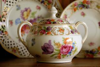 Schumann Bavaria china sugar bowl