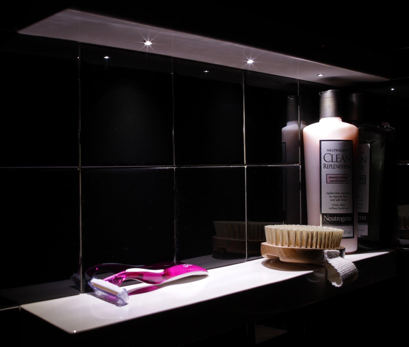 Bathroom: LED Tiles Bathroom