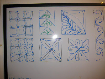 Drawing free motion quilting designs