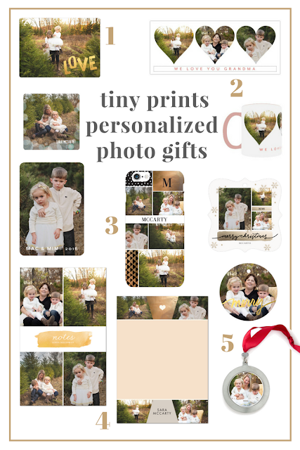 Tiny Prints personalize photo gifts