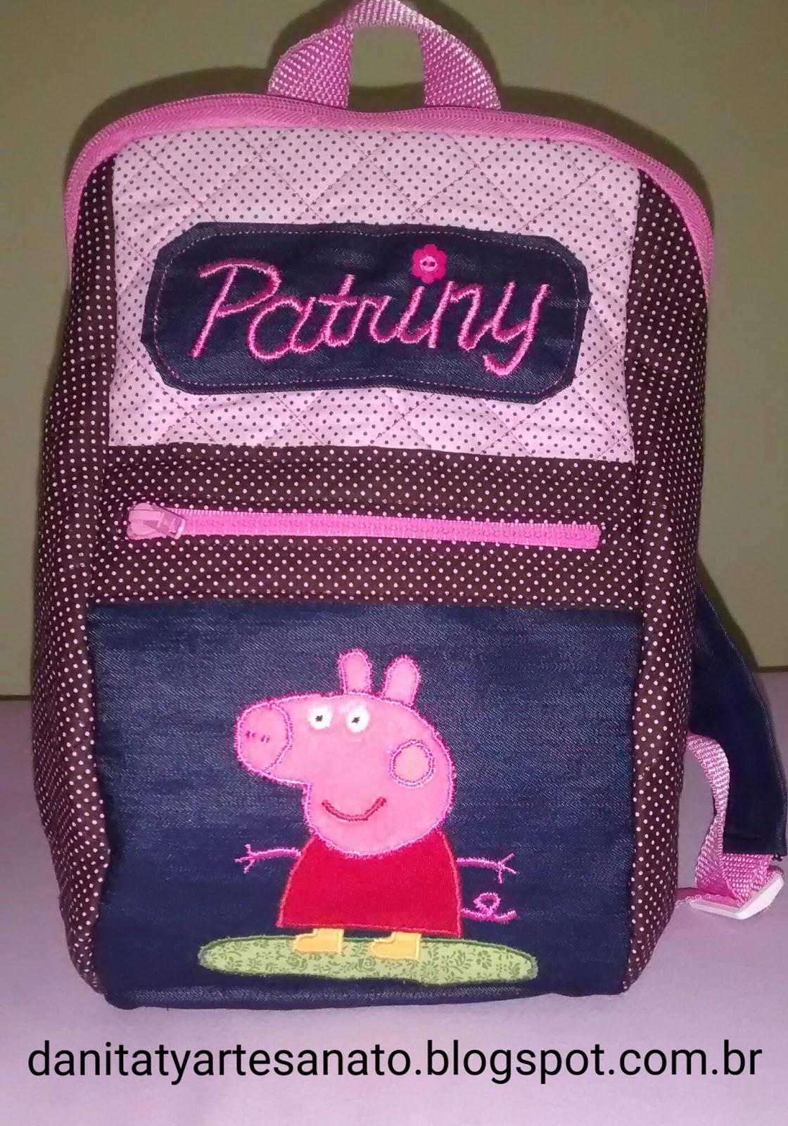 como fazer mochila escolar de tecido passo a passo Pinterest