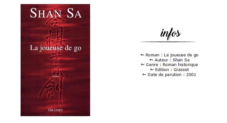 Avis roman La joueuse de go Shan Sa