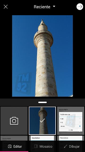 PicsArt para Android pantalla inicial