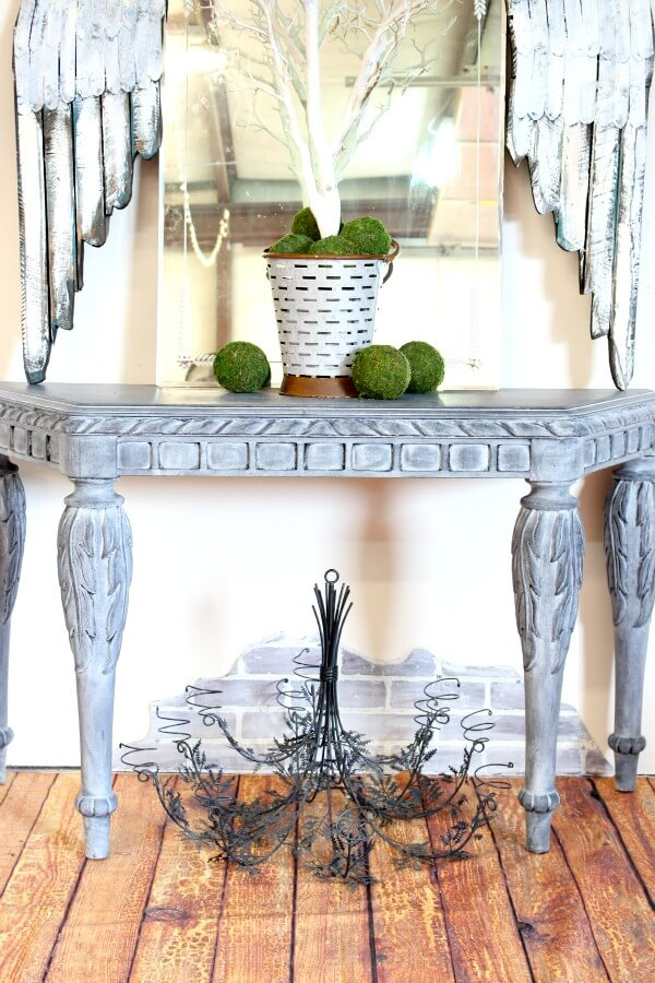 console table painted with Heirloom Traditions paint