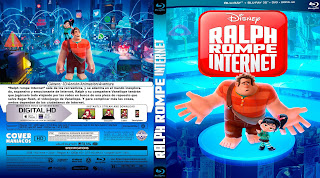 CARATULA RALPH BREAKS THE INTERNET-RALPH ROMPE INTERNET 2018 (COVER BLU-RAY)