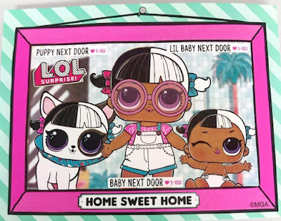 Картинка с именами семьи L.O.L. из дома для кукол MGA