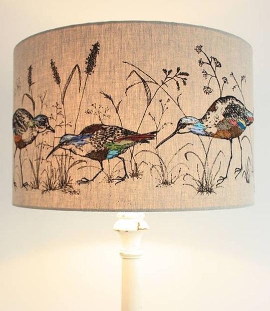 haftowane abazury lamp