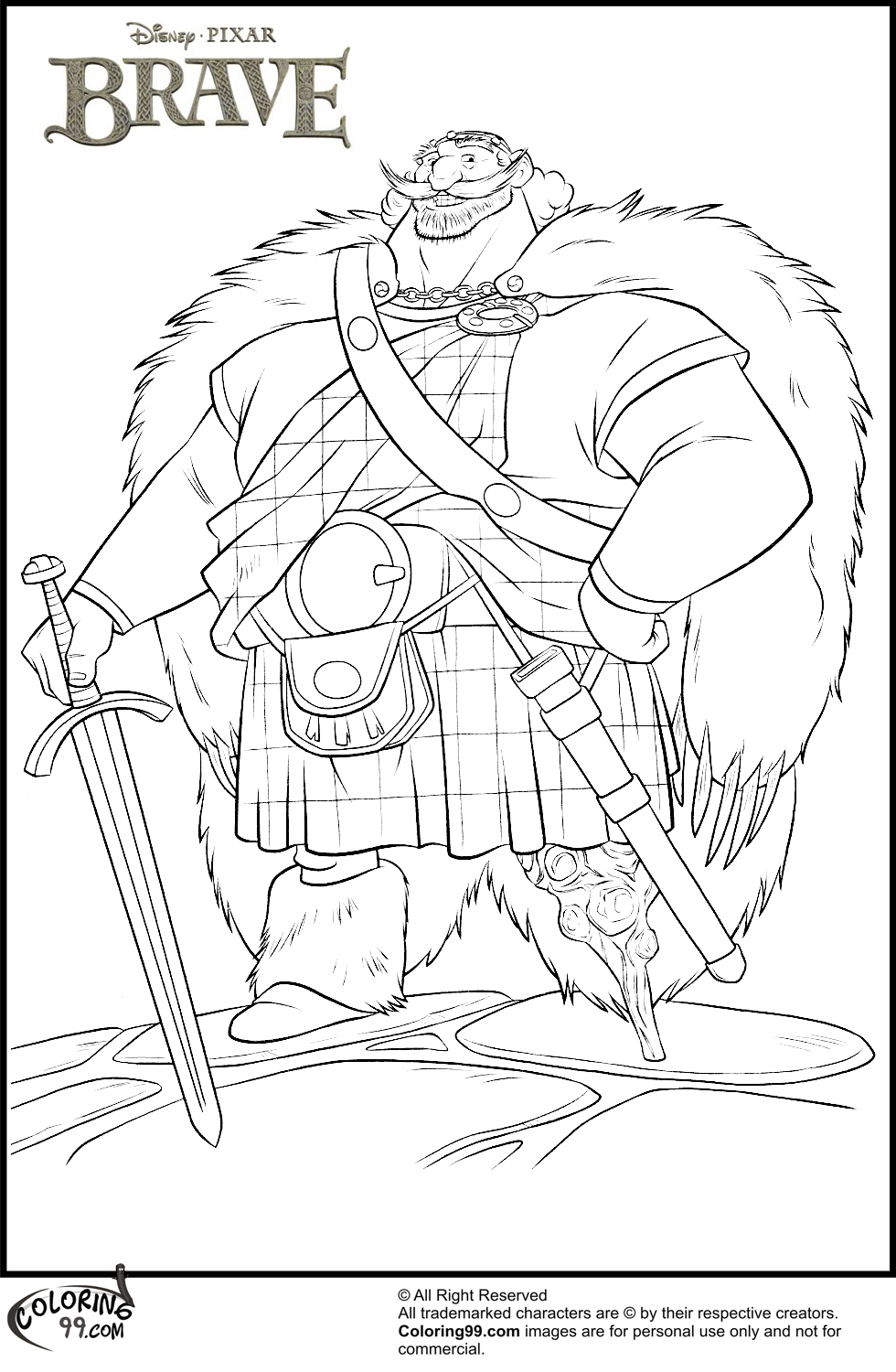 Disney Brave Coloring Pages Minister