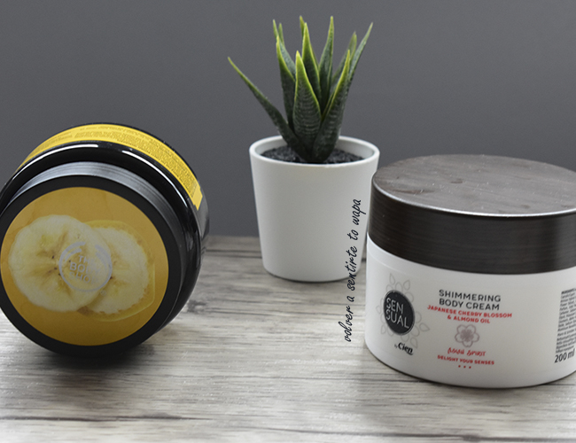 Gama Banana de The Body Shop e Hidratante con Shimmer de Lidl