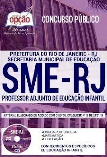 Apostila SME RJ 2019 Professor Adjunto de Educação Infantil