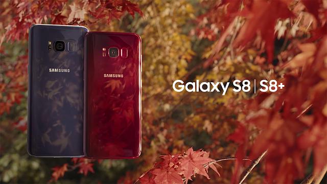 Samsung Galaxy S8 şi S8 Plus sunt disponibile într-o nouă culoare de toamnă - Burgundy Red