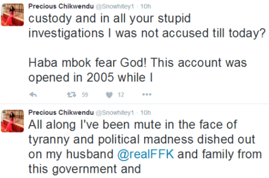 FFK's wife, Precious Chikwendu, reacts to her detention by EFCC officials in Ekiti