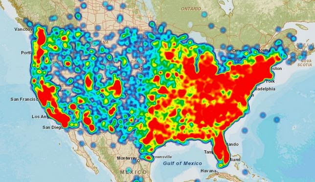 AT&T Coverage Map Problems Heat Map on act map, at&t network map, us cellular map, at&t internet map, garmin map, ata map, bank of america map, cisco map, 3m map, ark map, at&t wireless map, app map, adc map, arc map, verizon map, msn map, walmart map, at&t coverage map, san francisco at&t park map,
