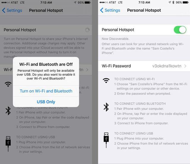 iphone personal hotspot langkah ke 2