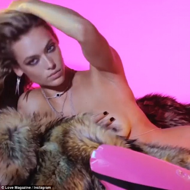 Top models strip for LOVE's Advent Calendar 2016
