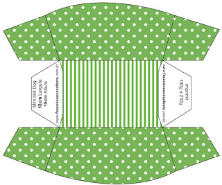 Green with White Polka Dots: Free Printable Boxes.