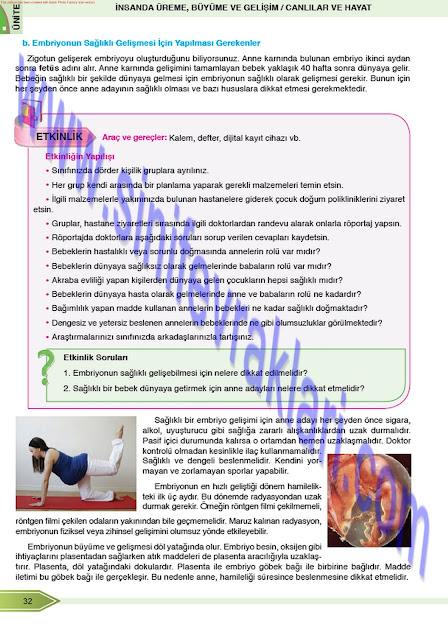 8. Sınıf Öğün Yayınları Fen Bilimleri Ders Kitabı Cevapları Sayfa 32