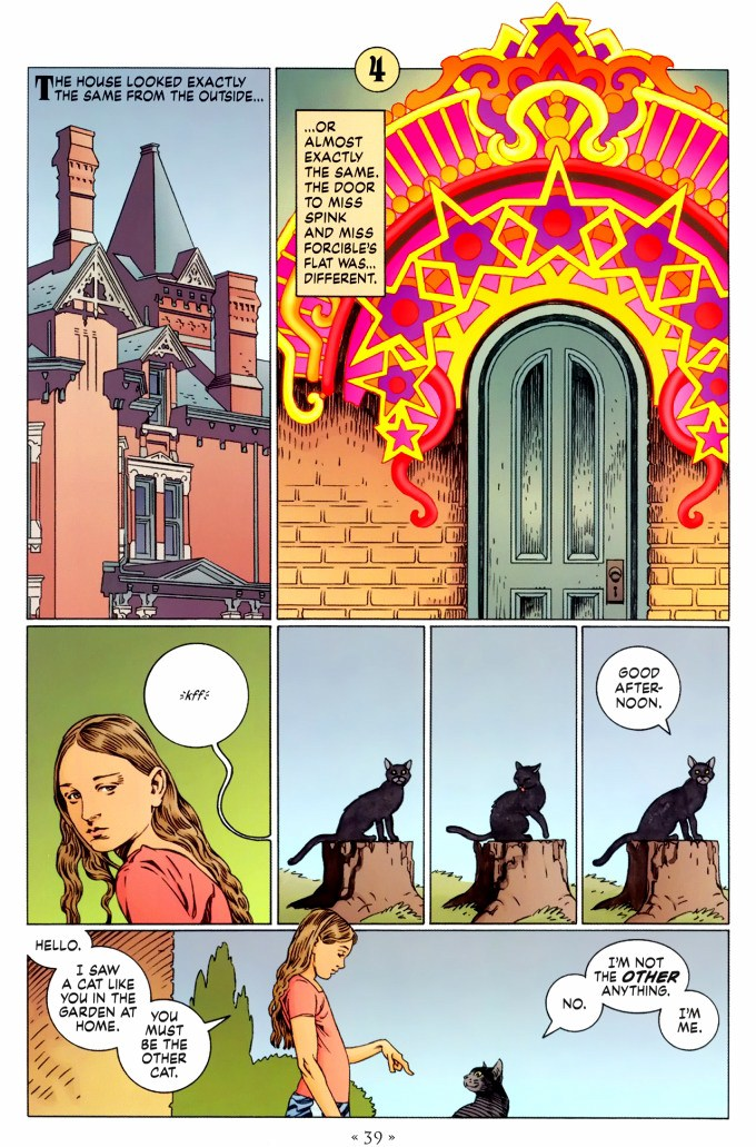 Read page 39, from Nail Gaiman and P. Craig Russell's Coraline graphic novel