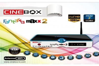 CINEBOX FANTASIA MAXX 2 HD NOVA ATUALIZAÇÃO - SKS 22W - 28/10/2016