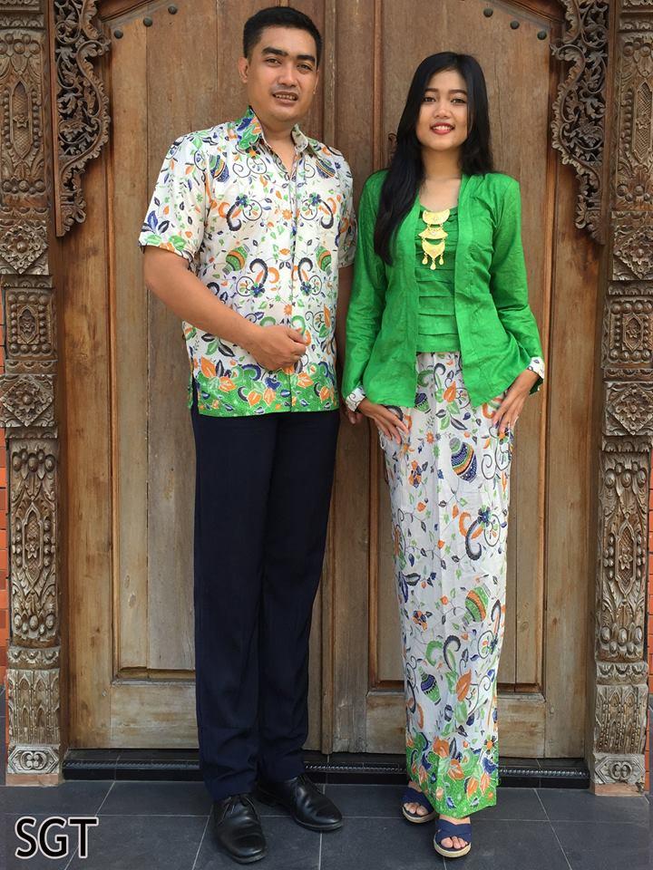 Baju Batik Couple Setelan Rok Span Dan Blus Sgt