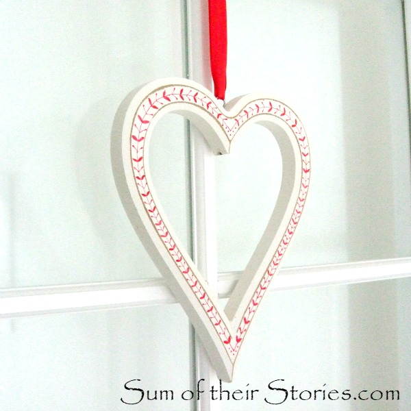 Red and White Heart Decoration