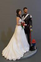 cake topper milano statuette matrimonio divisa torta nozze orme magiche