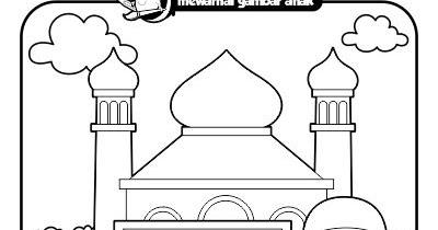 Mewarnai Gambar Anak Mewarnai Gambar Mengaji Di Masjid