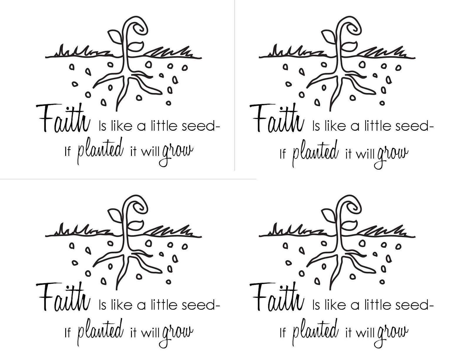 Faith Is Like A Seed Printable Handout