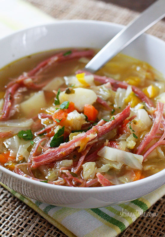 Corned Beef And Cabbage Soup Recipe Skinnytaste