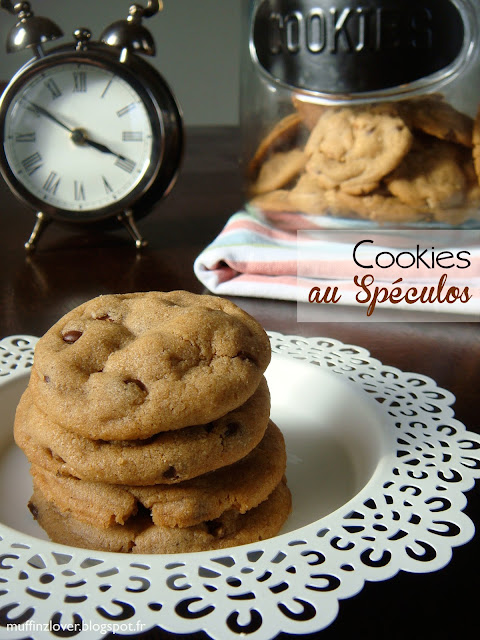 Recette Cookies au speculoos - muffinzlover.blogspot.fr