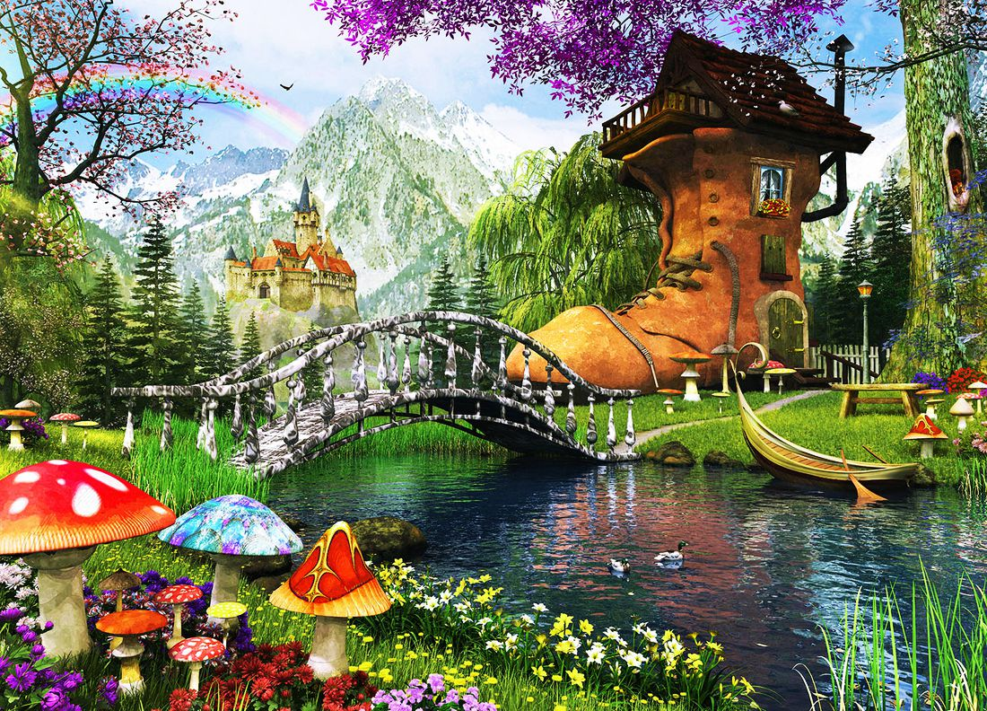 Children imagination world of beautiful pictures from dream