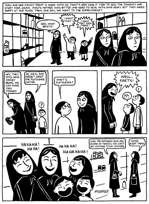 Read Chapter 12 - The Jewels, page 90, from Marjane Satrapi's Persepolis 1 - The Story of a Childhood