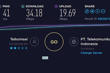 Menjajal Kecepatan Download 4G LTE Telkomsel di Trenggalek