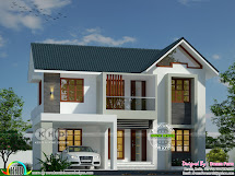 Sloping Roof Modern Home Dream Form - Kerala