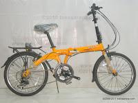 1 Sepeda Lipat Fold-X Seoul 21 Speed Shimano 20 Inci
