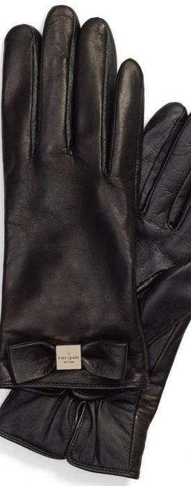 kate spade new york 'bow logo' gloves