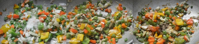 Step 2 - Vegetable Fried Rice Recipe   How to make restaurant style Veg Fried Rice