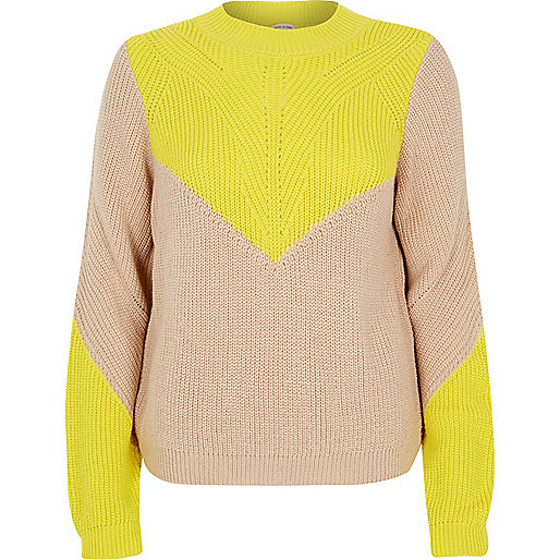 river island beige yellow jumper, beige yellow jumper,
